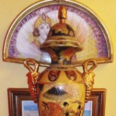 Antigüedades: JARRON CHINO - SATSUMA - DECORADO EN ORO Y MOTIVOS COSTUMBRISTAS ORIENTALES - ASA CON RACIMOS DE UVA. Lote 208392185