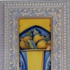 Antigüedades: 3 AZULEJOS DE CERÁMICA DE TALAVERA. RUIZ DE LUNA. MONTADOS EN MARCO DE MADERA DE 58,5X30 CM.. Lote 208414680