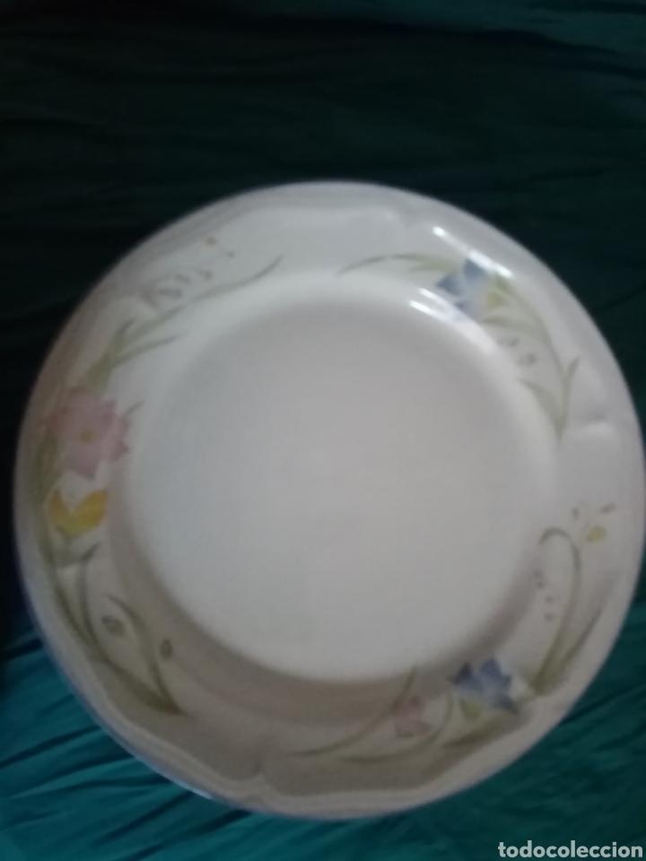 Antigüedades: 6 Platos de loza de cerámica decorada de gran tamaño - Foto 2 - 208427090