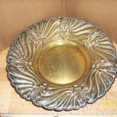 Antigüedades: ANTIGUO PLATO DE BRONCE PLATEADO. Lote 208427650