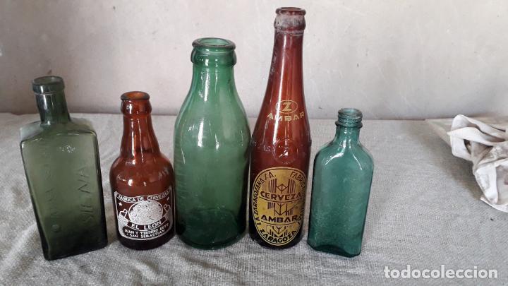 4 BOTELLAS DE CRISTAL (Antigüedades - Cristal y Vidrio - Otros)