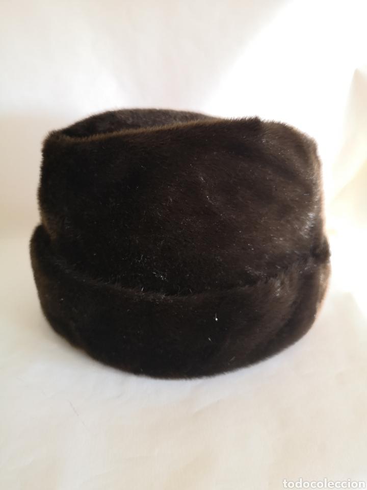 GORRO CABALLERO PIEL PELO - SOMBRERO HOMBRE ALEMANIA (Antigüedades - Moda - Sombreros Antiguos)