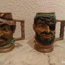 Antiquités: CONJUNTO DE JARRAS PIRATAS 15 CM DE ALTO. Lote 208452080