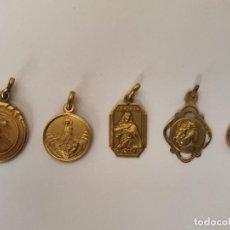Antigüedades: ANTIGUAS MEDALLAS ( JUEGO 5 ). Lote 208472347