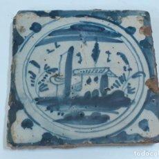 Oggetti Antichi: AZULEJO/BALDOSA DE TRIANA FIGURA CASA S.XVIII (1895). Lote 208475847