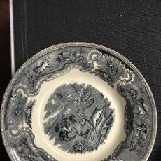 Antigüedades: PLATO CON SELLO DE CARTAGENA EN NEGRO. Lote 208485327