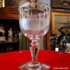 Antigüedades: CRISTAL DE LA GRANJA. COPA DE BODA.1833.. Lote 208563553