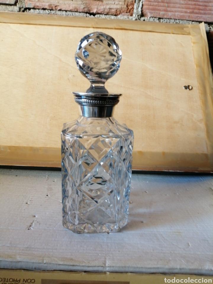 BOTELLA DE CRISTAL INGLÉS (Antigüedades - Cristal y Vidrio - Inglés)