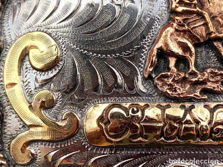 Antigüedades: HEBILLA CHARRA. PLATA. MÉXICO. - Foto 5 - 208577278
