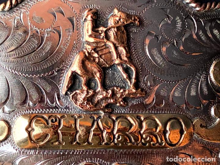 Antigüedades: HEBILLA CHARRA. PLATA. MÉXICO. - Foto 9 - 208577278