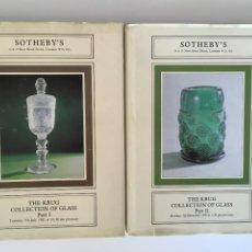 Antigüedades: 2 CATÁLOGOS SOTHEBY´S CAPA DURA - GLASS I E GLASS II. Lote 208580592