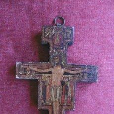 Antigüedades: ANTIGUA CRUZ DE MADERA DE SAN DAMIÁN. JESÚS HABLÓ A SAN FRANCISCO.. Lote 208593921