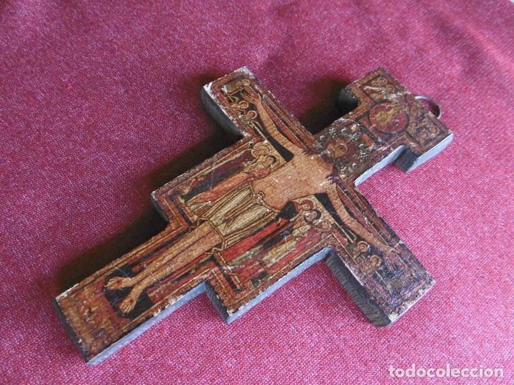 Antigüedades: ANTIGUA CRUZ DE MADERA DE SAN DAMIÁN. JESÚS HABLÓ A SAN FRANCISCO. - Foto 3 - 208593921