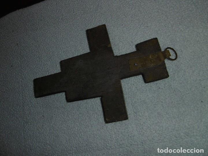 Antigüedades: ANTIGUA CRUZ DE MADERA DE SAN DAMIÁN. JESÚS HABLÓ A SAN FRANCISCO. - Foto 5 - 208593921