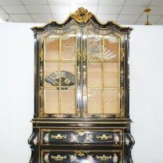 Antigüedades: VITRINA ANTIGUA ISABELINA MADERA EBONIZADA, S.XIX. Lote 208657795