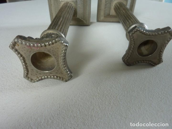Antigüedades: PAREJA DE PORTAVELAS. - Foto 7 - 57728611