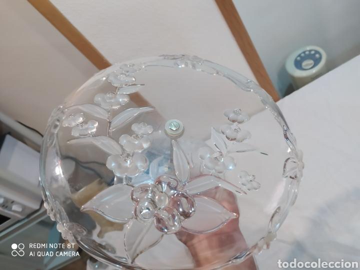 Antigüedades: Impresionante frutero o centro de mesa de cristal tallado con dos pisos años60 - Foto 8 - 208732997