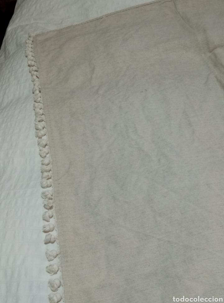 Antigüedades: Preciosa colcha de lino de telar siglo XIX - Foto 5 - 208769778