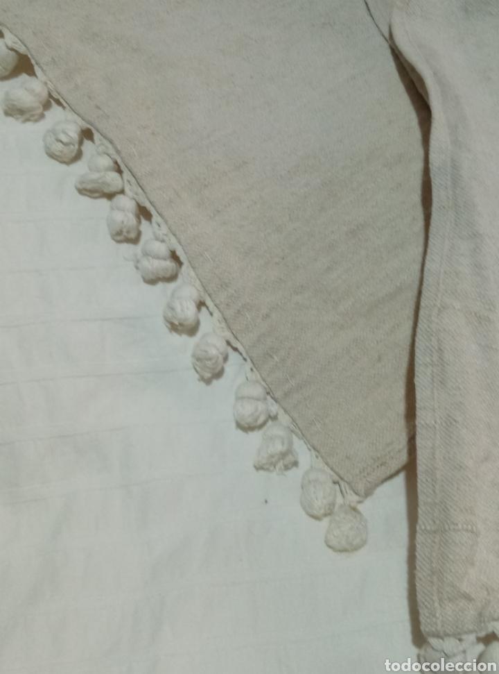 Antigüedades: Preciosa colcha de lino de telar siglo XIX - Foto 7 - 208769778