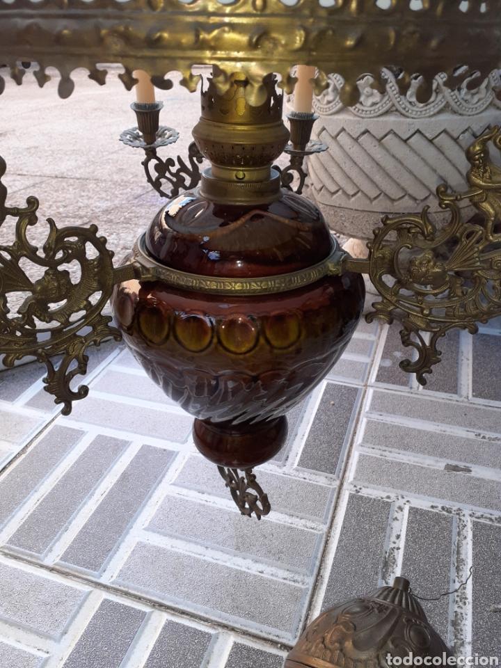 GRAN LAMPARA HOLANDESA,VER FOTOS.. (Antigüedades - Iluminación - Lámparas Antiguas)
