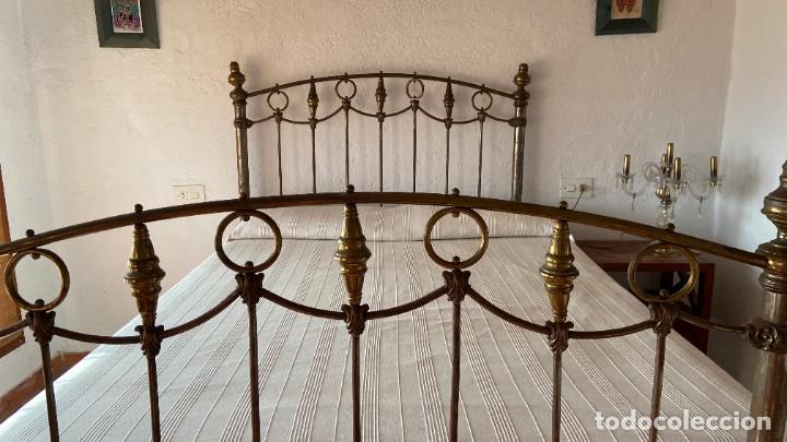 Antigüedades: napoleonic cama (1817) bronze y hierro - Foto 2 - 208810516