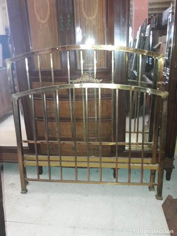 CAMA DE LATÓN (Antigüedades - Muebles Antiguos - Camas Antiguas)