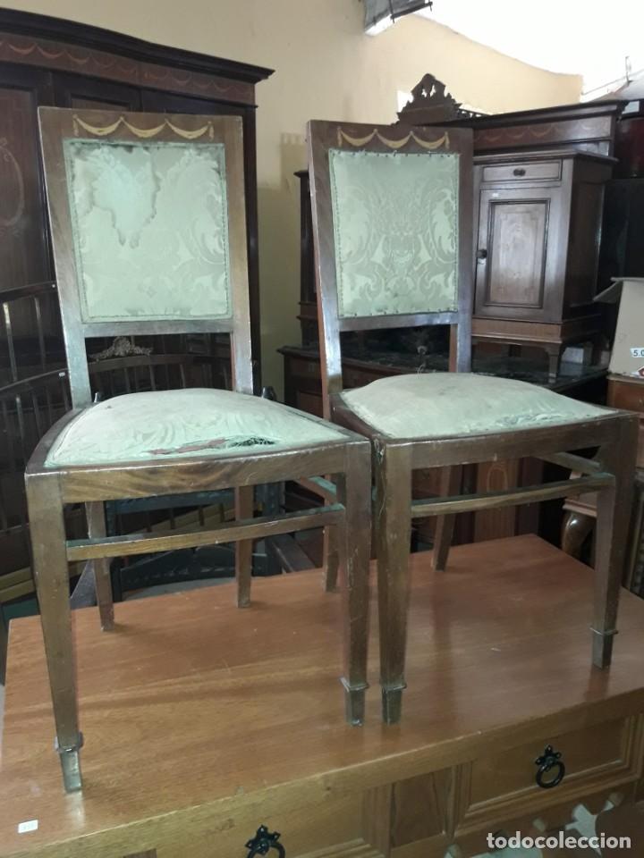 PAREJA DE SILLAS (Antigüedades - Muebles Antiguos - Sillas Antiguas)