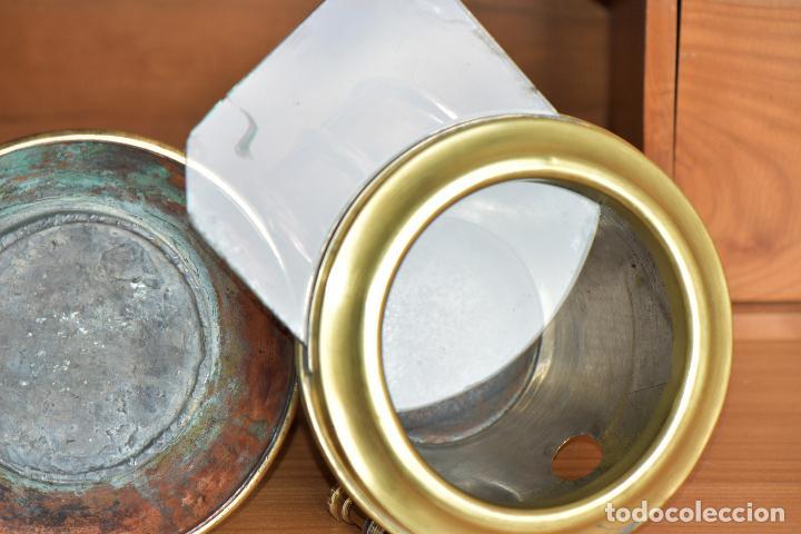 Antigüedades: FAROL DE CARBURO. DE 27 CM DE ALTO 20 DE LARGO Y 15 DE ANCHO. RESTAURADO - Foto 14 - 208819952