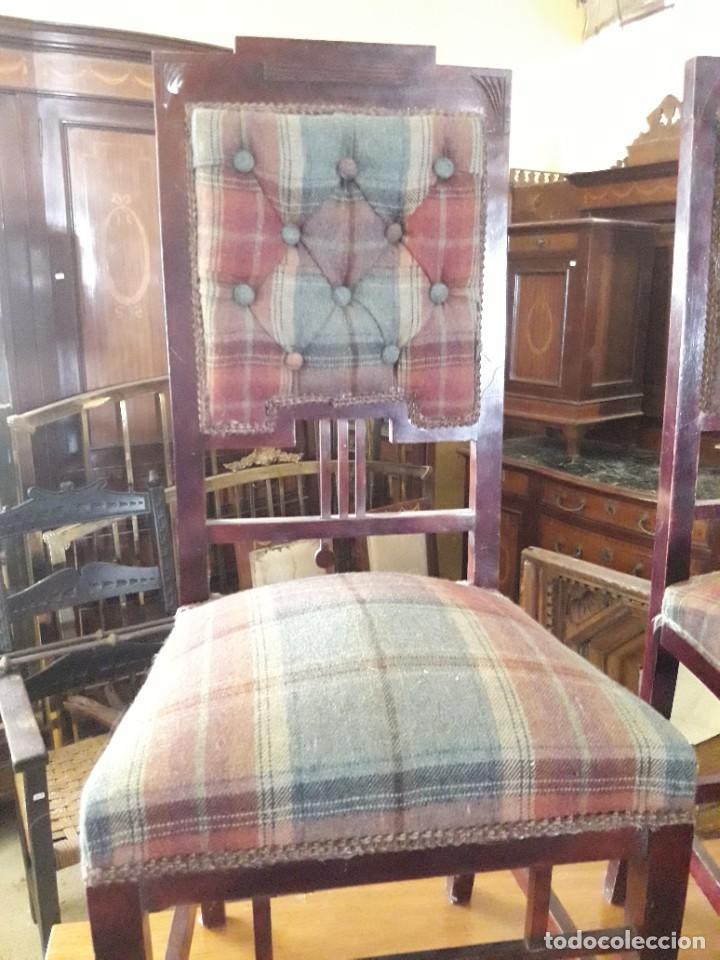 Antigüedades: Pareja de sillas - Foto 2 - 208822795