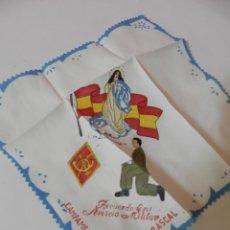 Antigüedades: PAÑUELO RECUERDO DE MI SERVICIO MILITAR CAMPAMENTO DEL CARRASCAL. LA PURISIMA. Lote 208837612