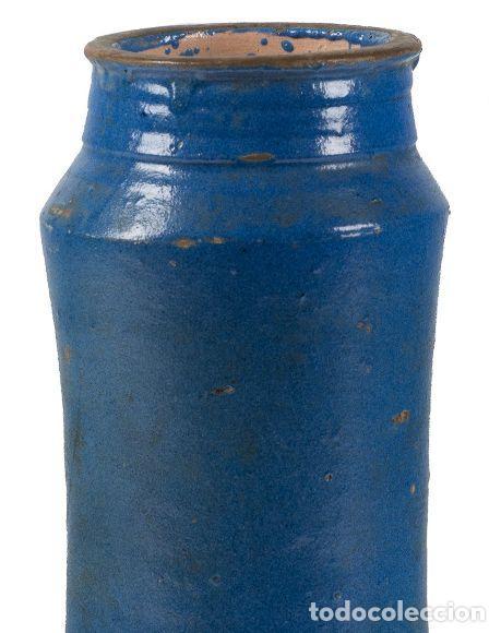 Antigüedades: BOTE DE FARMACIA. CATALUÑA, SIGLO XVI. DECORADO EN AZUL. ALT. 29 CM - Foto 5 - 206489938