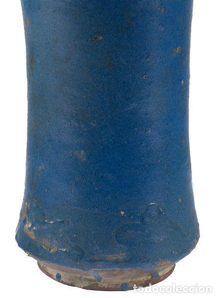 Antigüedades: BOTE DE FARMACIA. CATALUÑA, SIGLO XVI. DECORADO EN AZUL. ALT. 29 CM - Foto 6 - 206489938