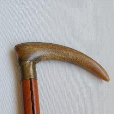 Antigüedades: ANTIGUO BASTÓN MANGO DE ASTA. Lote 208926838