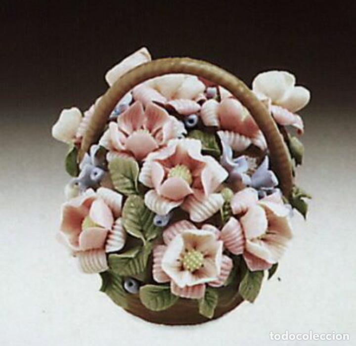 """REF: 01001295 """"CESTA DE FLORES Nº. 4-B"""" LLADRÓ (Antigüedades - Porcelanas y Cerámicas - Lladró)"""