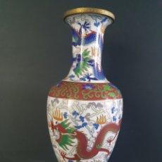 Antiquités: JARRON CLOISSONE (DRAGON , AVE FENIX). Lote 208944775