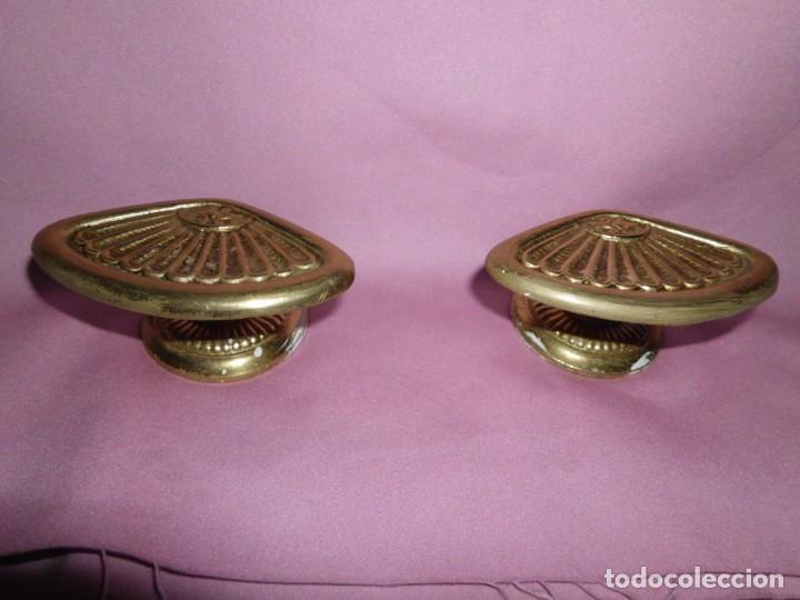 Antigüedades: Pareja de colgadores de bronce estilo Art - Decó - Foto 3 - 208945938
