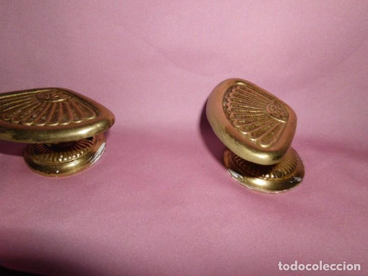 Antigüedades: Pareja de colgadores de bronce estilo Art - Decó - Foto 4 - 208945938