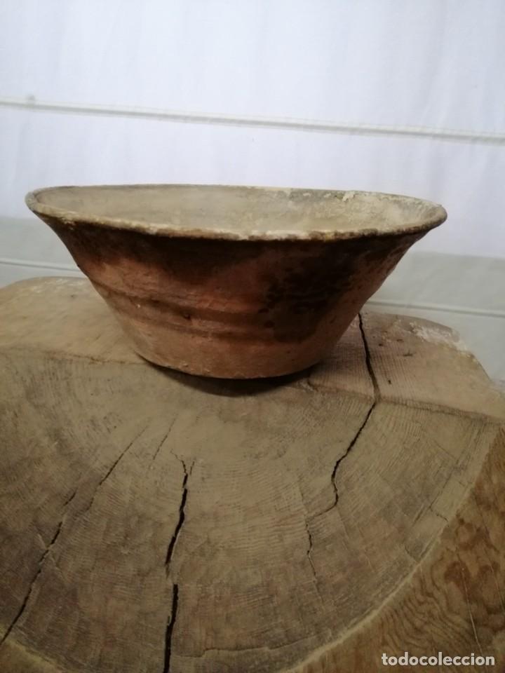 Antigüedades: ANTIGUO LEBRILLO DE BARRO ESMALTADO , SIGLO XIX, 34 cm - Foto 2 - 208948357