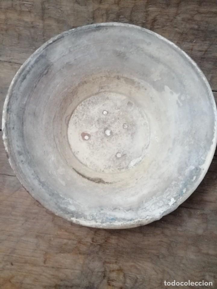 Antigüedades: ANTIGUO LEBRILLO DE BARRO ESMALTADO , SIGLO XIX, 34 cm - Foto 5 - 208948357