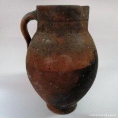 Antigüedades: ANTIGUO PUCHERO DE BARRO ESMALTADO , SIGLO XIX, 34 CM. Lote 208949645