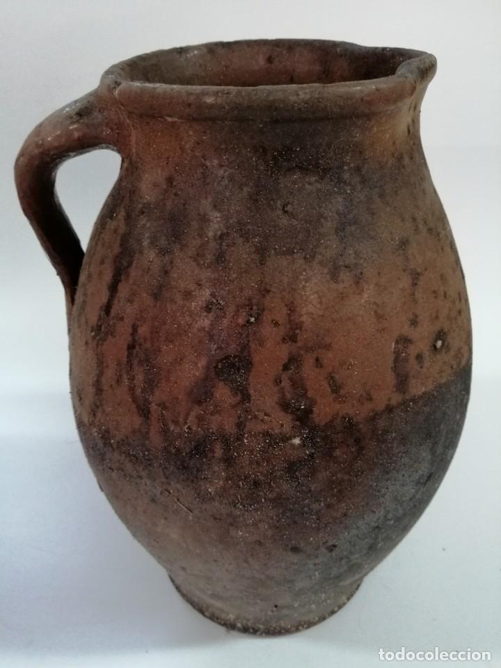 ANTIGUO PUCHERO DE BARRO ESMALTADO , SIGLO XIX, 32 CM (Antigüedades - Técnicas - Rústicas - Utensilios del Hogar)