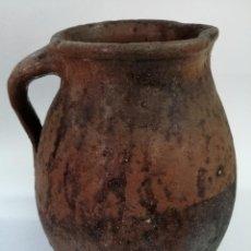 Antigüedades: ANTIGUO PUCHERO DE BARRO ESMALTADO , SIGLO XIX, 32 CM. Lote 208950025