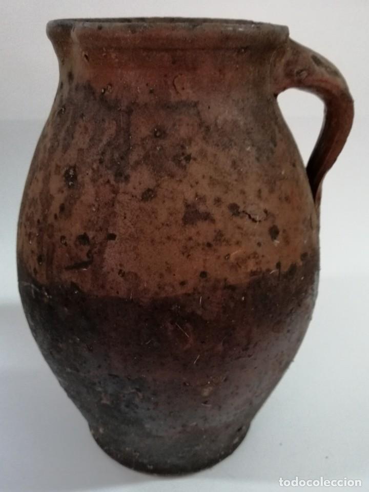 Antigüedades: ANTIGUO PUCHERO DE BARRO ESMALTADO , SIGLO XIX, 32 cm - Foto 3 - 208950025