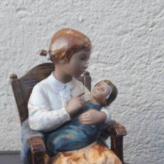 Antigüedades: FIGURA LLADRÓ 2089 NIÑA DE LA MECEDORA. Lote 208950352