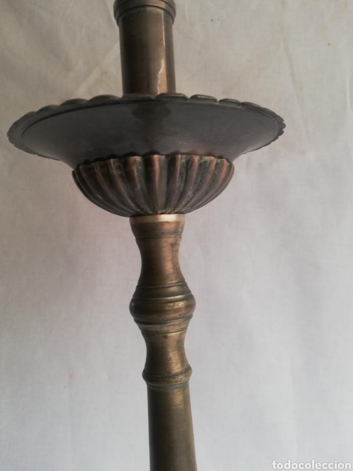 Antigüedades: GRAN HACHERO CANDELABRO LITURGICOS IGLESIA CANDELERO BRONCE ANTIGUO BARROCO - Foto 5 - 208939588