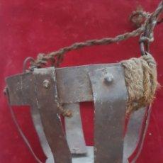 Antigüedades: ANTIGUO BOZAL DE GANADO FORJA. Lote 208974850