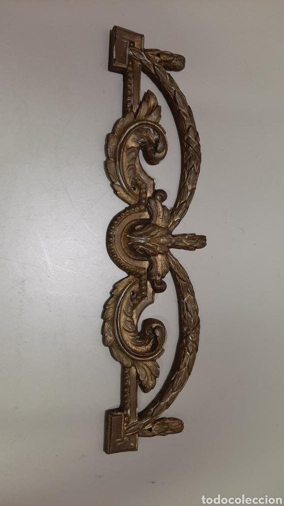 Antigüedades: 7 piezas de bronce para decoración de muebles o lámparas, lo que se desee. Antiguas, bonita pátina. - Foto 5 - 208975598