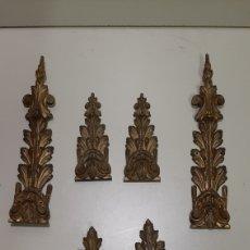 Antigüedades: 7 PIEZAS DE BRONCE PARA DECORACIÓN DE MUEBLES O LÁMPARAS, LO QUE SE DESEE. ANTIGUAS, BONITA PÁTINA.. Lote 208975598