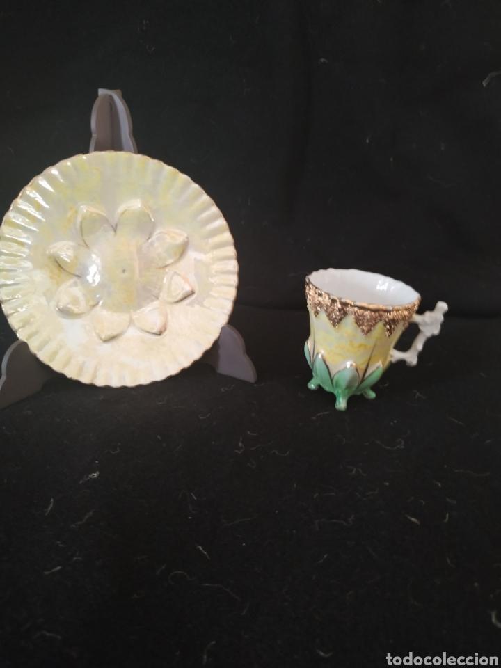 Antigüedades: Taza y plato Modernista .Numerada.Circa 1900-10 - Foto 6 - 208976815