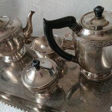 Antigüedades: JUEGO DE TÉ / CAFÉ ESTILO ART DÉCO ALPHA PLATE VINERS DE SHEFFIELD - INGLÉS. Lote 208985368